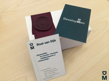 Onze nieuwe DevelopMen business cards!