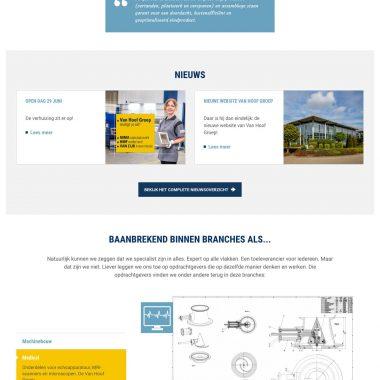Van Hoof Groep - homepage